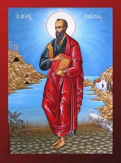 Βυζαντινή Αγιογραφία - Τοιχογραφία δια χειρός Βασίλειου και Περικλή Συρίμη  Szent Pál