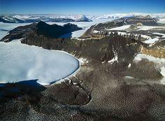 Tongue of the Taylor glacier entering Beacon valley, Dry Valleys, Antarctica (77°48' S, 160°50' E) by Yann Arthus Bertrand