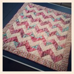 very truly me lovely zigzag quilt beautiful colours