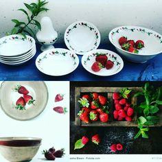 Strawberries' seasons is upon us! Time to get the perfect strawberry set from Gien for your garden parties and family reunions!