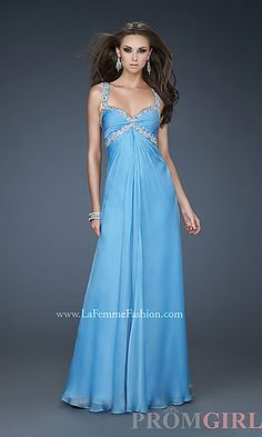 Prom Dresses, Celebrity Dresses, Sexy Evening Gowns - PromGirl: Full Length Chiffon Sweetheart Gown