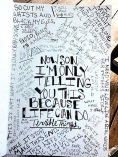Horribly depressing song lyrics page.