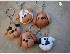 Puertas                                                                                                                                                                                 Mais Cute Polymer Clay, Polymer Clay Animals, Cute Clay, Fimo Clay, Polymer Clay Projects, Polymer Clay Charms, Polymer Clay Creations, Polymer Clay Earrings, Clay Crafts