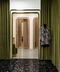India Mahdavi designed these velvet and quartz fitting rooms for KaDaWe department store in Berlin