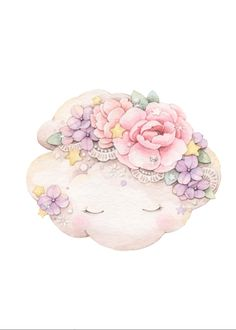 Watercolor Flowers, Watercolor Art, Vine Drawing, Image Deco, Panda Art, Cute Paintings, Baby Wallpaper, Unicorn Art, Kids Room Wall Art