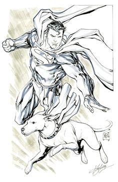 Superman & Krypto by Ken Lashley