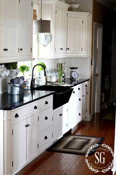 FARMHOUSE-KITCHEN-white-cabinets-soapstone-counters-stonegableblog.com_.jpg 900×1,359 pixels