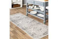 20 Gorgeous Rug Ideas for Your Kitchen Kitchen Shop, Cute Kitchen, Stylish Kitchen, Rustic Kitchen, Kitchen Area Rugs, Kitchen Desks, Kitchen Flooring, Rock Floor, Large Area Rugs