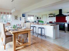 Two Floor Types Kitchen Diner