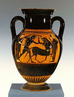Attic pottery features red and black figures and was a fixture in ancient Greece from the sixth to fourth centuries B.C. The precision required to produce the impressive detail seen in such pieces is very high, and our understanding of the methods and techniques used by various artists -- and how those evolved over time -- is incomplete.  #attic_pottery  #ceramics  #ancient_ceramics