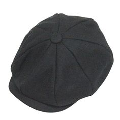 801bd9802f Discounted Classic 8 Panel Wool Tweed Newsboy Gatsby Ivy Cap Golf Cabbie  Driving Hat,Black
