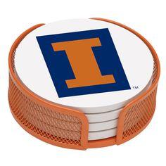 5 Piece University of Illinois Collegiate Coaster Gift Set