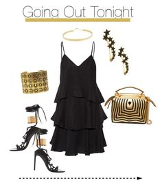 """""""Going Out, 2"""" by kvogele on Polyvore featuring Lana Jewelry, Tom Ford, Paul & Joe, Fendi and Chanel"""