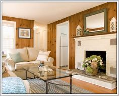 update knotty pine walls with flooring - Google Search