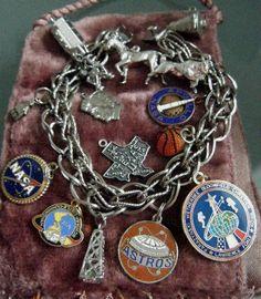 Houston theme charm bracelet