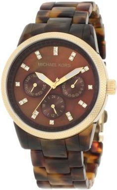 Michael Kors Women's MK5038 Ritz Tortoise Watch-- 14% DISCOUNT & FREE SUPER SAVER SHIPPING for a limited time!--->  http://amzn.to/18DzmUT