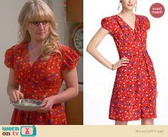Bernadette's red Thanksgiving dress on The Big Bang Theory. Outfit Details: http://wornontv.net/23040 #TheBigBangTheory