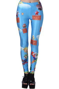Super Mario Blue Leggings