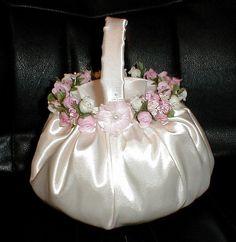 Custom Flower Girl Baskets   Various  Colors