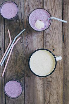 Lavender Milkshake and Chamomile Latte