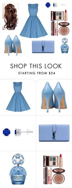 """Baby Blue!!"" by mysticsjy on Polyvore featuring Semilla, Yves Saint Laurent, Marc Jacobs and Charlotte Tilbury"