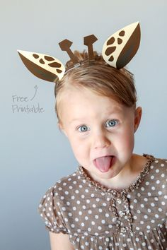 Free Printable Animal Ears with Animal Jam - Paging Supermom - - With Easter this weekend we thought it'd be good timing to share our free printable Animal Ears, which include . Read moreFree Printable Animal Ears with Animal Jam. Funny Giraffe, Animal Costumes For Kids, Giraffe Crafts, Zoo Crafts, Giraffe Birthday, Headband Crafts, Le Zoo, Dance Costumes, Giraffes