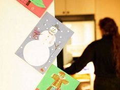 Ideas for christmas cards...good idea I never know what to really do with these and i don't want to throw them away