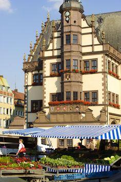 Das alte Rathaus von Schweinfurt, welches um 1570 erbaut wurde - http://www.schweinfurt360.de/  #schweinfurt #rathaus