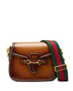 2 shoulder straps! Lady Web Medium Crossbody Bag, Brown by Gucci at Neiman Marcus.