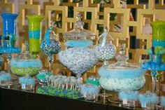 Green and Blue Baby Shower, Afternoon Tea Baby Shower Party Ideas | Photo 4 of 18 | Catch My Party