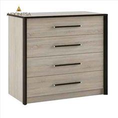 Συρταριέρα 80x82 με 4 συρτάρια. Από την Alphab2b.gr Scarlet, Dresser, Drawers, Furniture, Home Decor, Products, Powder Room, Decoration Home, Room Decor