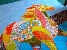 horse quilt by Feeling Simply Quilty crafts
