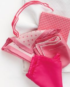 """See the """"Hip Handkerchiefs"""" in our Wedding Colors: Shades of Pink gallery"""