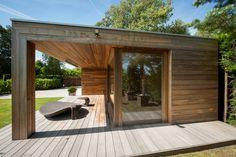 relaxruimte in hout