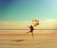 beach and balloons! What a great combo