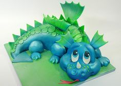 Birthday of your Kids constantly the key time for parants.you can manage a colossal celebration with this birthday party. Cake is the focous of you wide Birthday… Dino Cake, Dinosaur Cake, Unique Cakes, Creative Cakes, Fondant Cakes, Cupcake Cakes, Fondant Bow, Shoe Cakes, Cupcakes