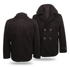 Bat Symbol Seam Black Peacoat ~ $249 ~ Batman Clothes!