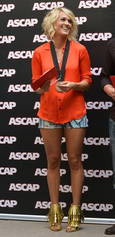 Carrie Underwood wearing Rag & Bone Biba Shorts. Carrie Underwood BMI/ASCAP #1 Party For Good Girl Performed By Carrie Underwood August 27 2012.
