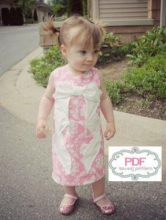Evangeline Dress PDF Pattern Tutorial, Ebook,Epattern sizes 12months- 5T Easy Sew Summer Dress. $5.00, via Etsy.