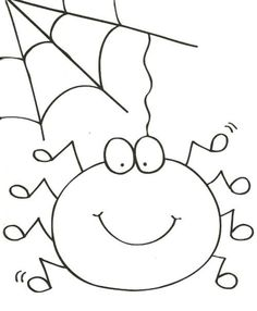 Sweet Animal Spider Coloring Page Cute Spider Pinterest