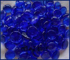 COBALT BLUE CRYSTAL CLEAR * NeW GLASS GEMS Mosaic Tile Tiles #Yakglass #Flatbacked