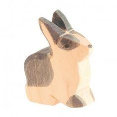 Ostheimer Rabbit, Black and White, Sitting