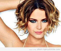 Very Short Curly Bob Hairstyles for Beautiful Girls 2014