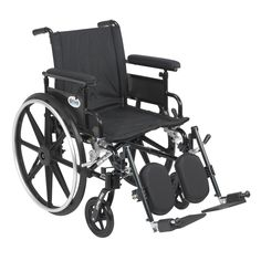 Drive Medical Viper Plus GT Wheelchair with Flip Back Adjustable Arms with Various Front Rigging (Adjustable Flip Back Removable Full Arms and Swing away Footrests, 18 Seat), Silver aluminum