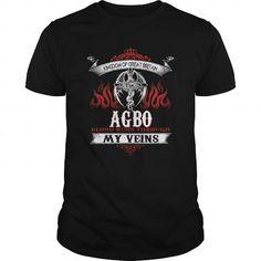 Cool  AGBO  Blood Runs Through My Veins (Dragon) - Last Name, Sub Name Shirts & Tees #tee #tshirt #named tshirt #hobbie tshirts #agbo