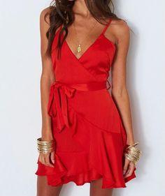 1a8b7c83174 A-Line Spaghetti Straps Mulberry Chiffon Homecoming Dress with Ruffles  fashion spaghetti strap red mini dress with ruffles
