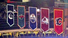 Northwest Division banners at Xcel Energy Center - November 2011 North West, Division, Nhl, Banners, November, Country, November Born, Rural Area, Country Music