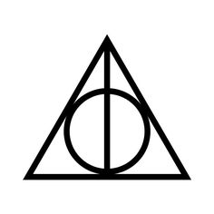 DEATHLY HALLOWS - i love harry potter! :O ❤ liked on Polyvore featuring fillers, harry potter, backgrounds, doodles, other, text, quotes, circle, circular and phrase