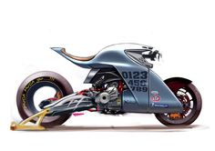 Motorcycle illustrations, drawings and projects - Cafe racers, scramblers and all around custom motorcycles Concept Motorcycles, Cool Motorcycles, Futuristic Motorcycle, Motorcycle Bike, Bike Sketch, E Mobility, Motorbike Design, Super Bikes, Custom Bikes