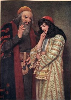 Shylock and Jessica, illustration from 'The Merchant of Venice', c.1910